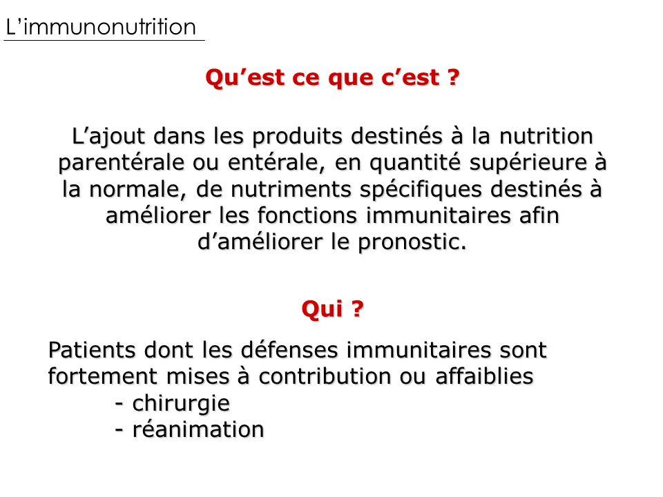 Limmunonutrition Quest ce que cest .