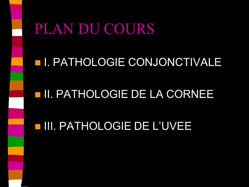 I.PATHOLOGIE DE LA CONJONCTIVE A.CONJONCTIVITE –1.