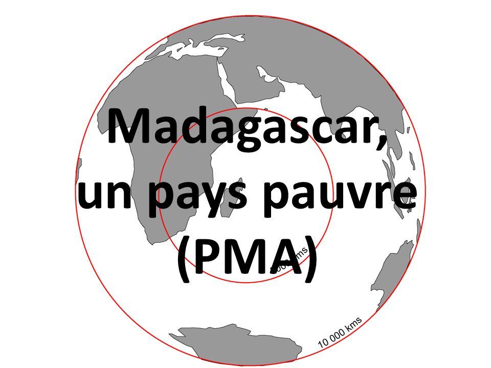 Madagascar, un pays pauvre (PMA)