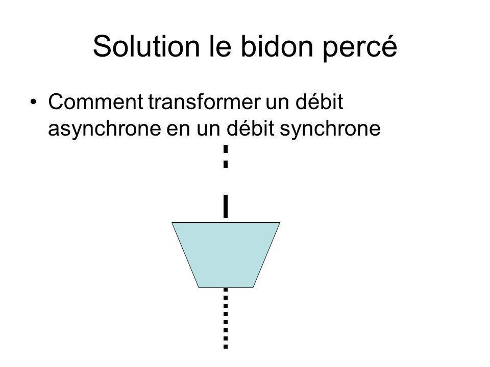 Solution le bidon percé Comment transformer un débit asynchrone en un débit synchrone