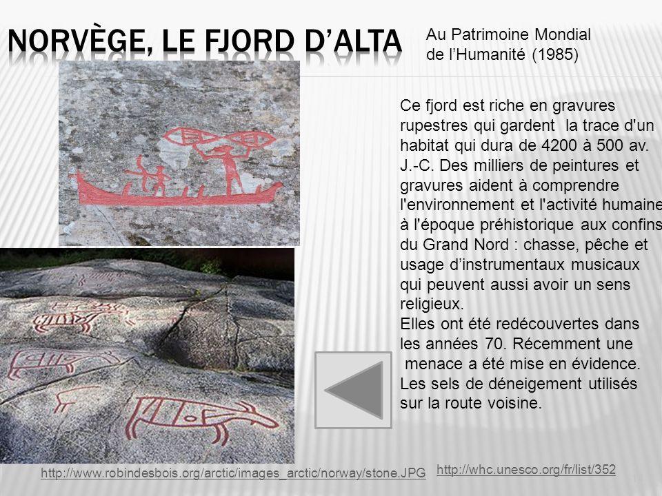 http://www.robindesbois.org/arctic/images_arctic/norway/stone.JPG Ce fjord est riche en gravures rupestres qui gardent la trace d'un habitat qui dura