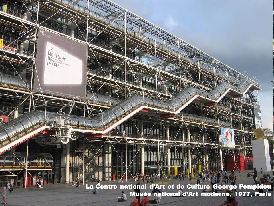La Centre national dArt et de Culture George Pompidou Musée national dArt moderne, 1977, Paris
