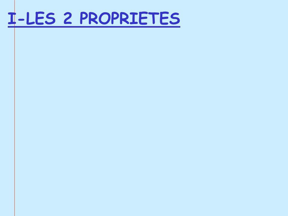 I-LES 2 PROPRIETES