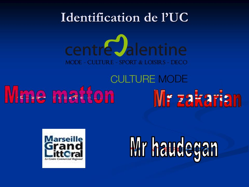Identification de lUC