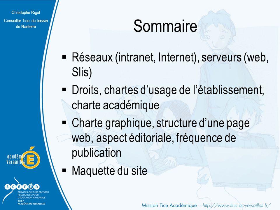 Christophe Rigal Conseiller Tice du bassin de Nanterre Le langage de programmation Les techniques modernes de publication Web reposent désormais sur la séparation du fond de la forme.
