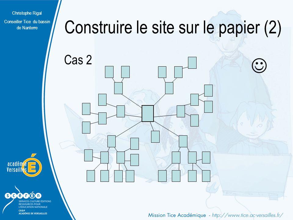 Christophe Rigal Conseiller Tice du bassin de Nanterre Construire le site sur le papier (2) Cas 1