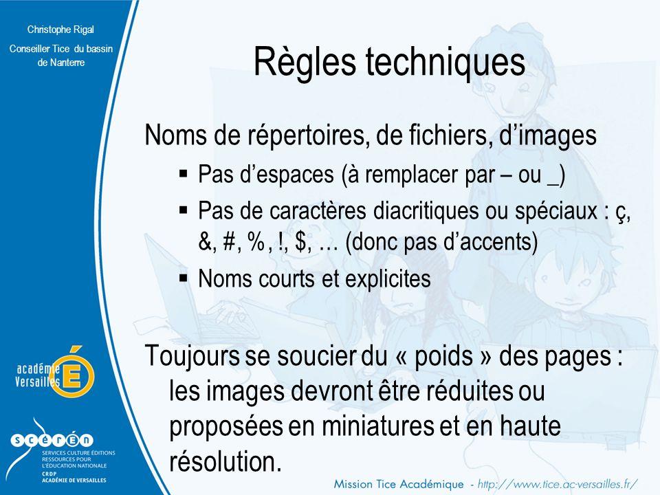 Christophe Rigal Conseiller Tice du bassin de Nanterre Construire le site sur le papier (2) Cas 2