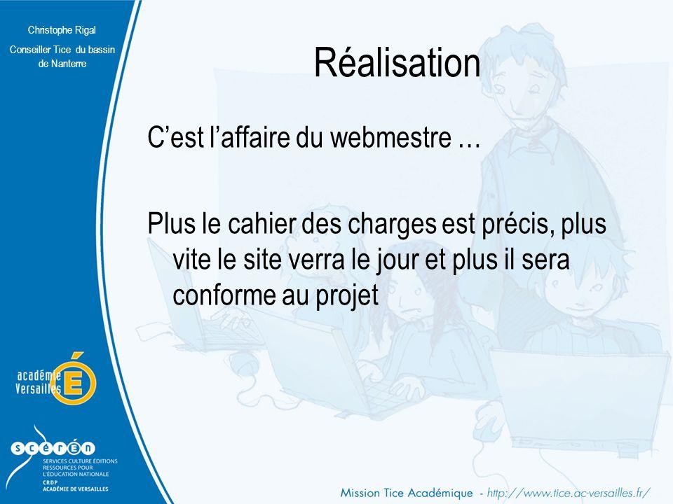 Christophe Rigal Conseiller Tice du bassin de Nanterre La navigation Pas de pages cul-de-sac.