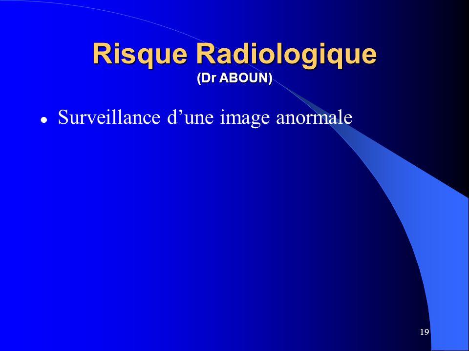 19 Risque Radiologique (Dr ABOUN) Surveillance dune image anormale