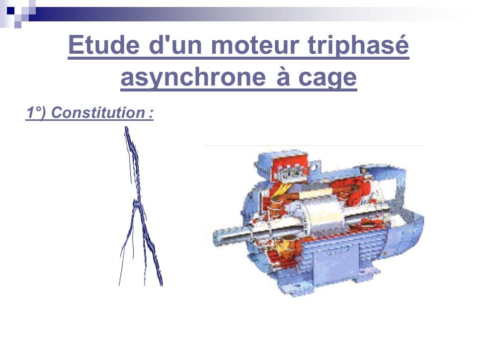 Etude d'un moteur triphasé asynchrone à cage 1°) Constitution :