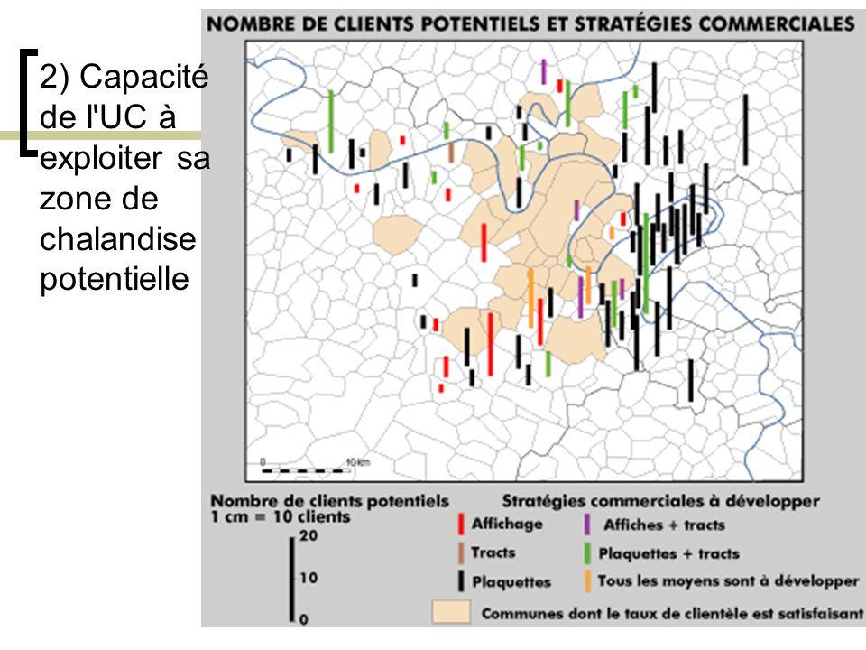 22 2) Capacité de l'UC à exploiter sa zone de chalandise potentielle