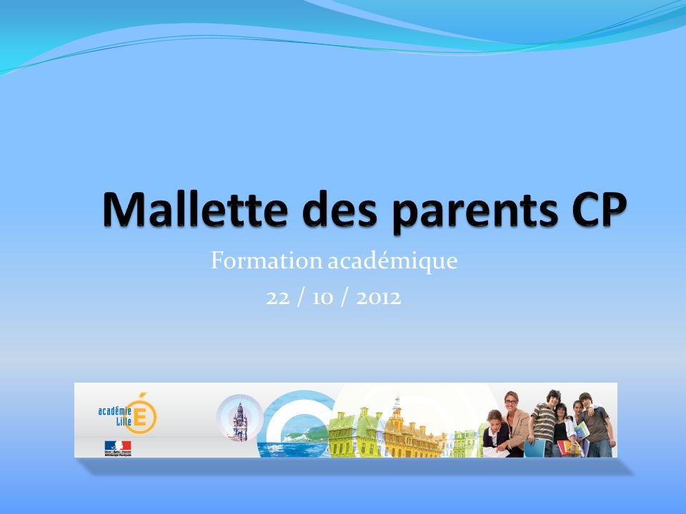 Formation académique 22 / 10 / 2012