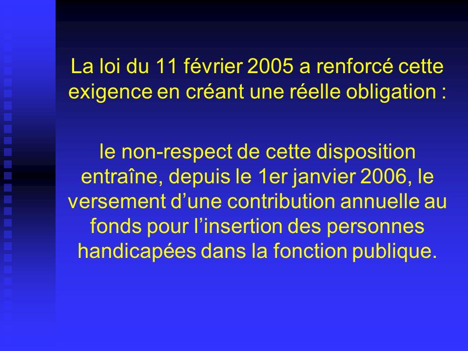 La loi du 11 février 2005 a renforcé cette exigence en créant une réelle obligation : le non-respect de cette disposition entraîne, depuis le 1er janv