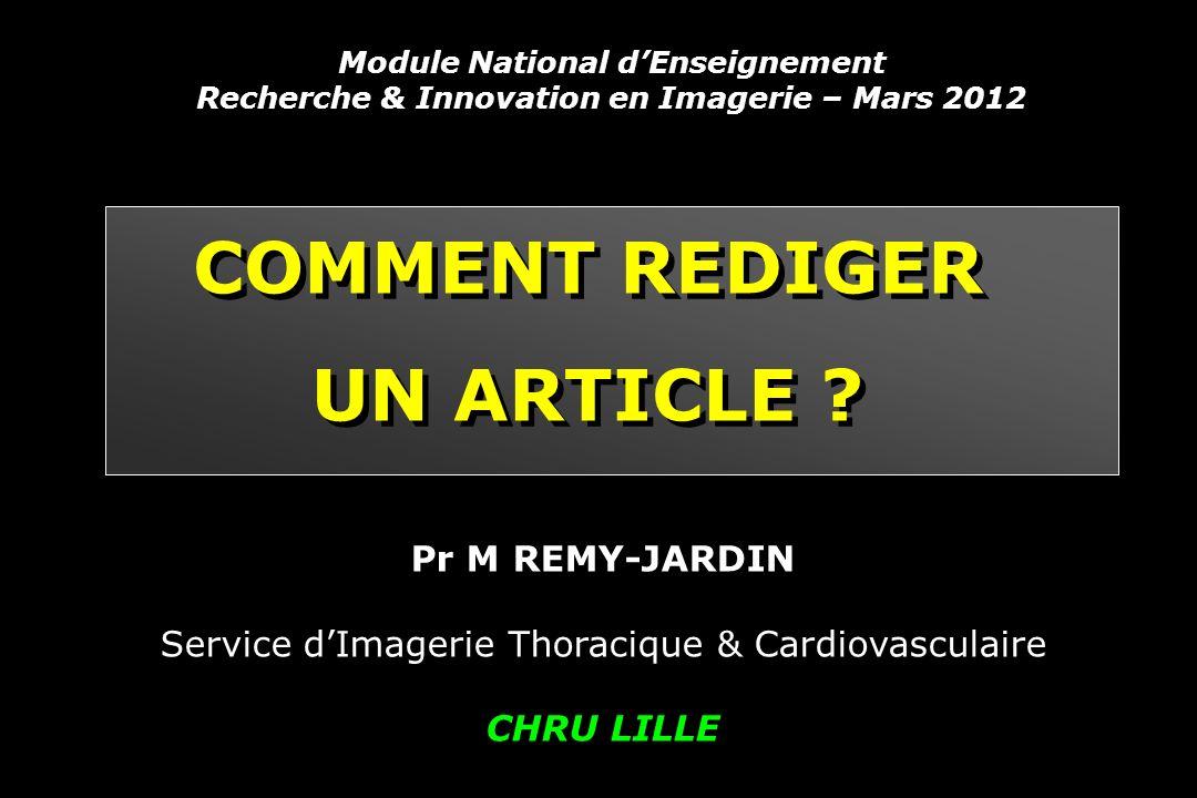 COMMENT REDIGER UN ARTICLE .COMMENT REDIGER UN ARTICLE .