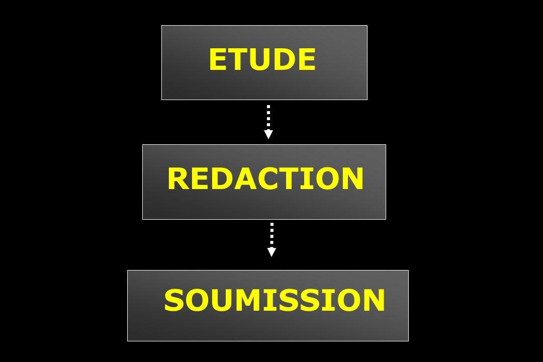 ETUDE SOUMISSION REDACTION