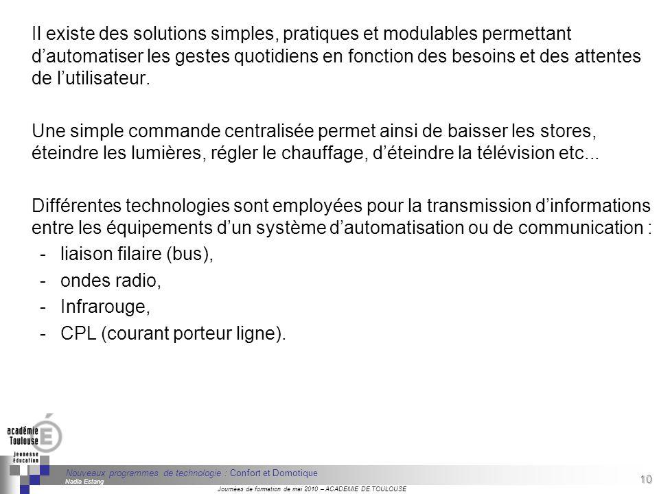 10 Séminaire « Définition de Produits » : méthodologie de définition dune pièce GREC INITIALES Journées de formation de mai 2010 – ACADEMIE DE TOULOUS