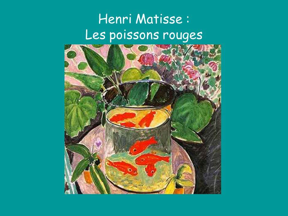 Henri Matisse : Les poissons rouges
