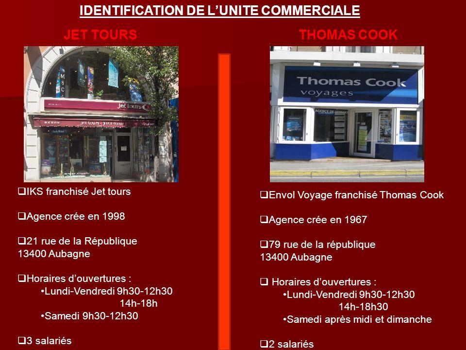 JET TOURSTHOMAS COOK IKS franchisé Jet tours Agence crée en 1998 21 rue de la République 13400 Aubagne Horaires douvertures : Lundi-Vendredi 9h30-12h3