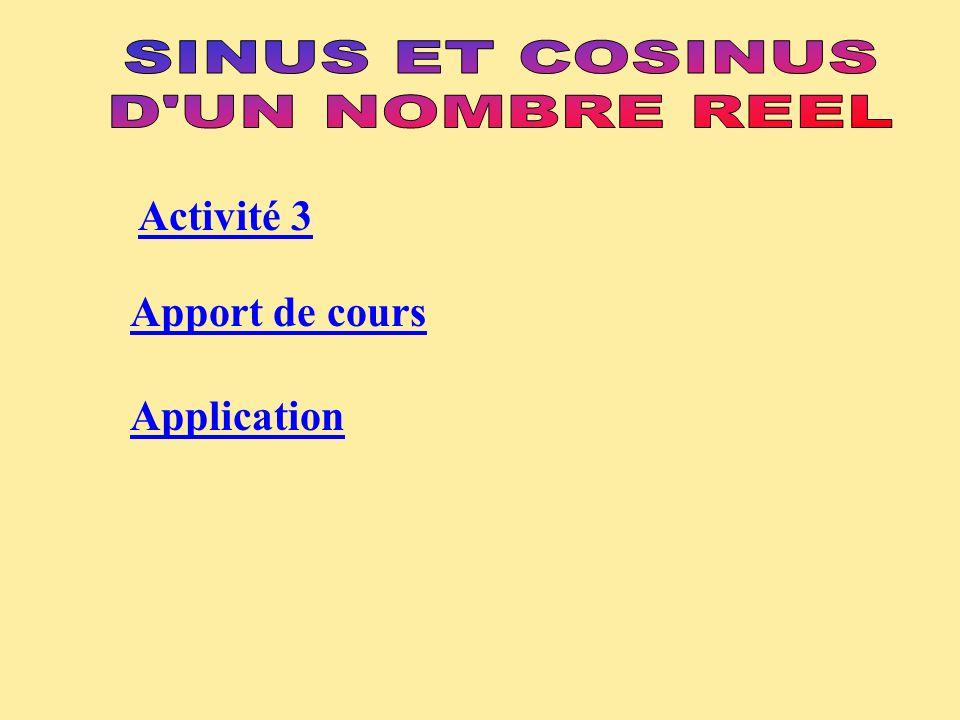 Activité 3 Apport de cours Application