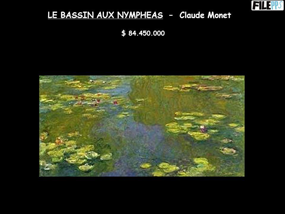 PORTAIT DU DOCTEUR GACHET - Vincent Van Gogh $ 82.500.000