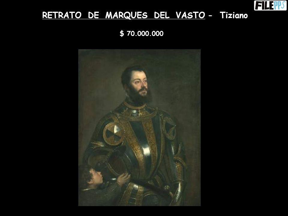PORTAIT DE L´ARTISTE SANS BARBE – Vincent Van Gogh $ 71.500.000