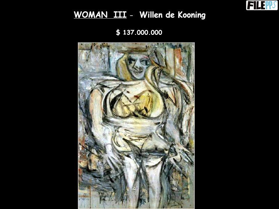 POLICE GAZETTE - Willem Kooning $ 63.500.000