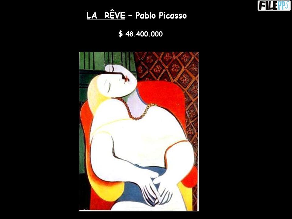 FEMME ASSISE DANS UN JARDIN – Pablo Picasso $ 49.500.000