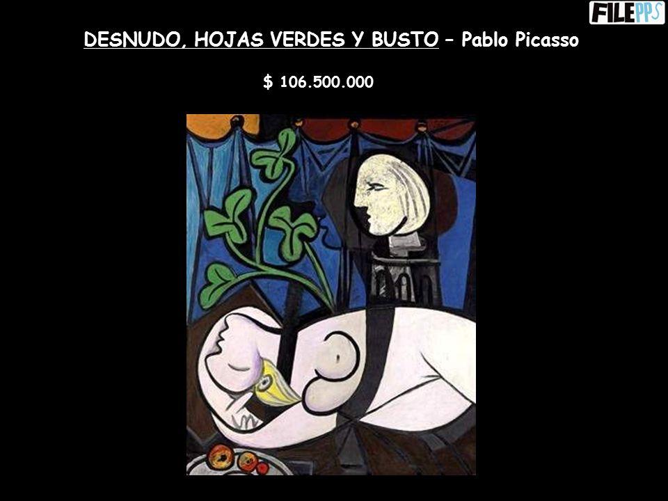 UN AU FAUTEUIL NOIR – Pablo Picasso $ 45.100.000