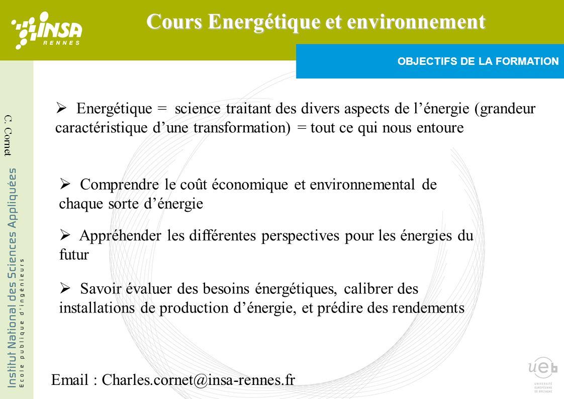 III-2°/ La conversion dénergie Ex.