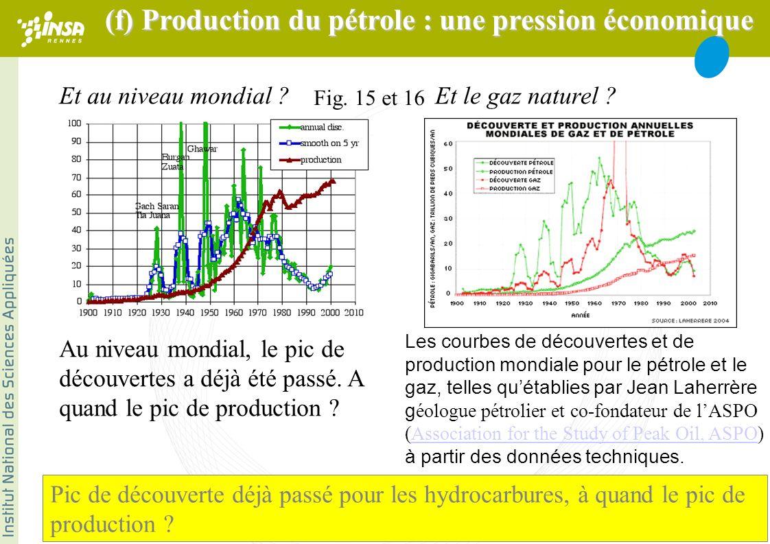 Les courbes de découvertes et de production mondiale pour le pétrole et le gaz, telles quétablies par Jean Laherrère g éologue pétrolier et co-fondate