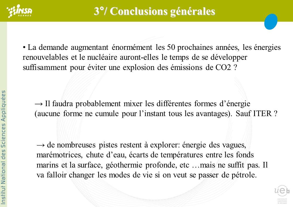 La demande augmentant énormément les 50 prochaines années, les énergies renouvelables et le nucléaire auront-elles le temps de se développer suffisamment pour éviter une explosion des émissions de CO2 .