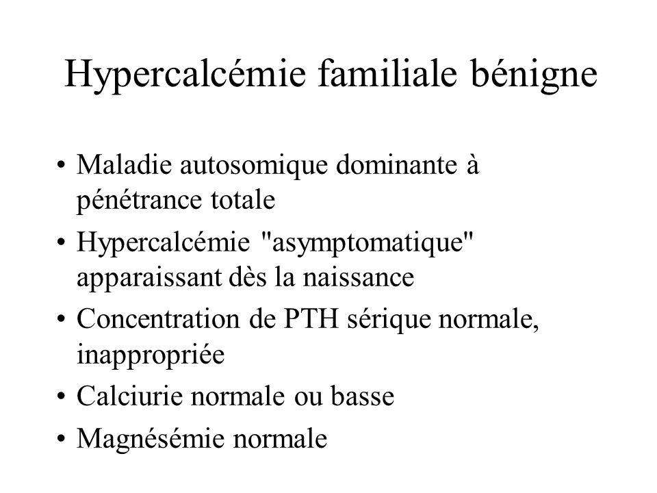 Mutations du Gène CaSR et hypercalciurie ?