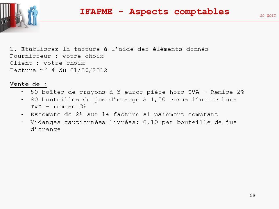 68 IFAPME - Aspects comptables JC WOIT