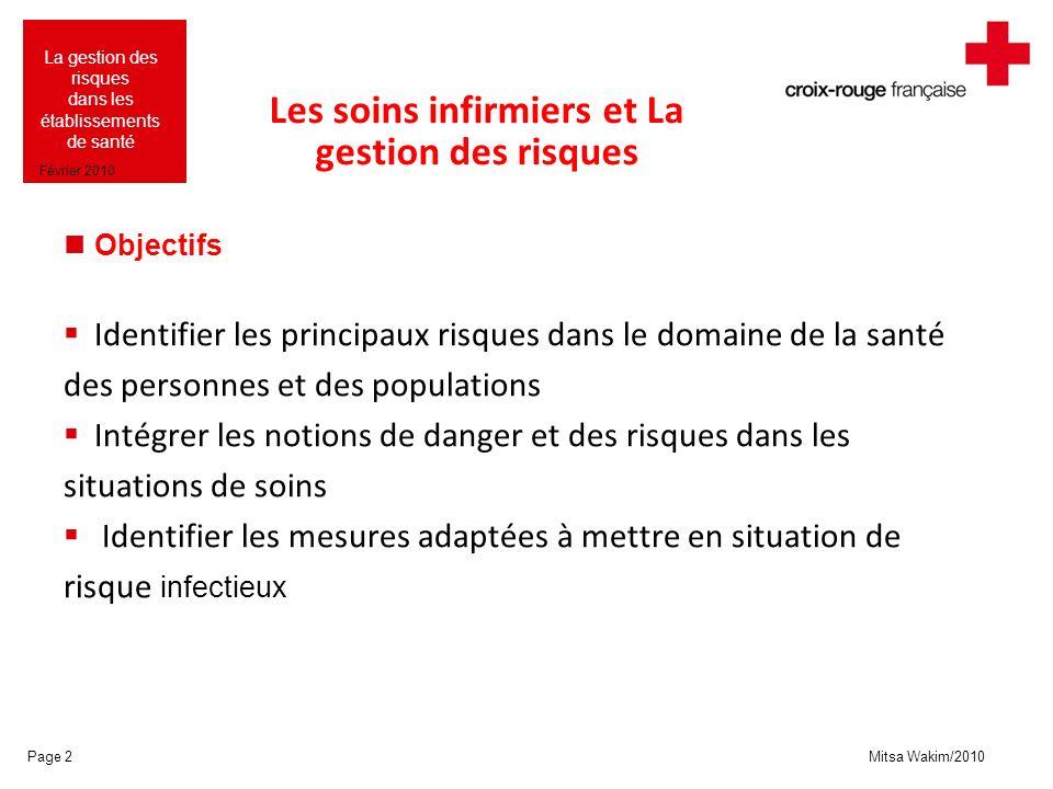 Mitsa Wakim/2010 La gestion des risques dans les établissements de santé Février 2010 Le modèle de J.