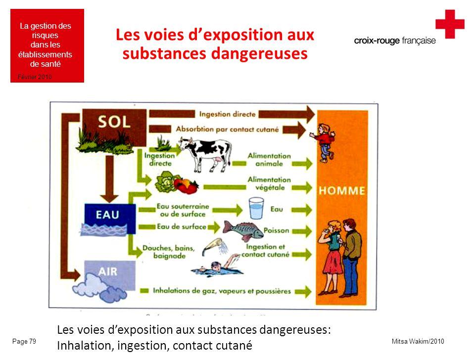 Mitsa Wakim/2010 La gestion des risques dans les établissements de santé Février 2010 Les voies dexposition aux substances dangereuses Page 79 Les voi