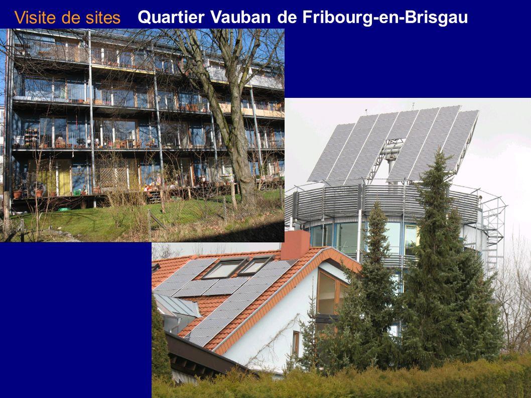 Quartier Vauban de Fribourg-en-Brisgau Visite de sites