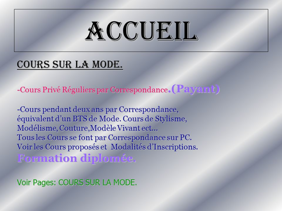 Accueil -Cours Irréguliers disponibles en ligne pour Adultes/Jeunes (Publique + Gratuit).