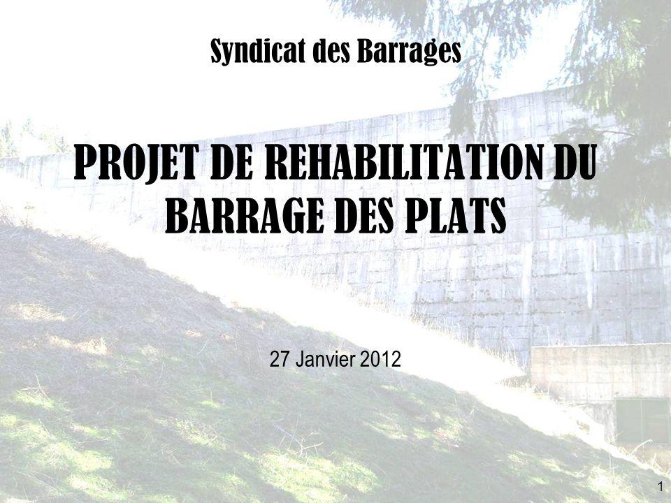 PROJET DE REHABILITATION DU BARRAGE DES PLATS Syndicat des Barrages 1 27 Janvier 2012