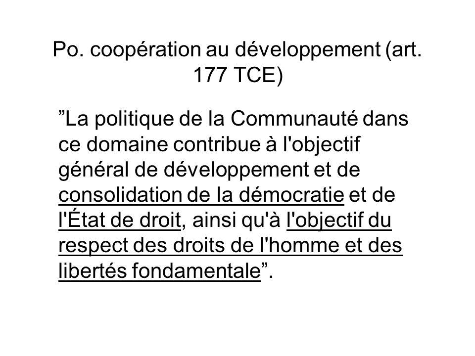 Po.coopération au développement (art.