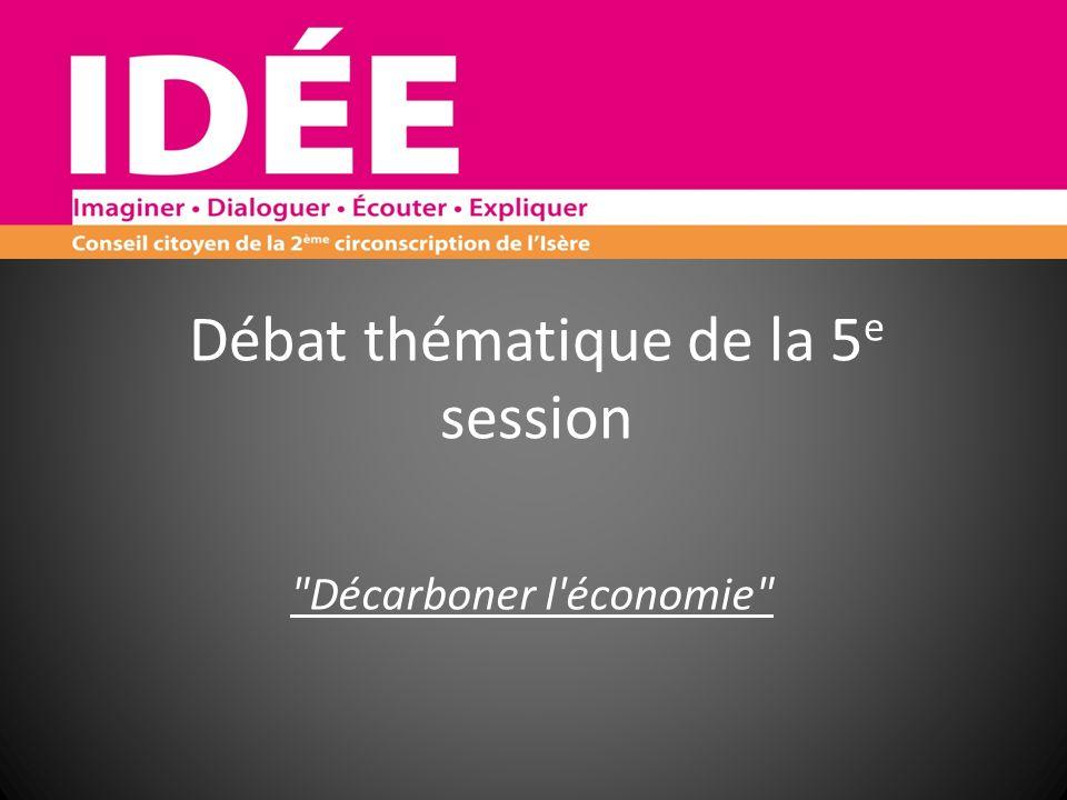 Débat thématique de la 5 e session