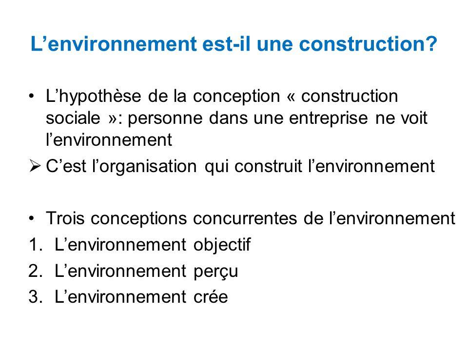 Lenvironnement est-il une construction.