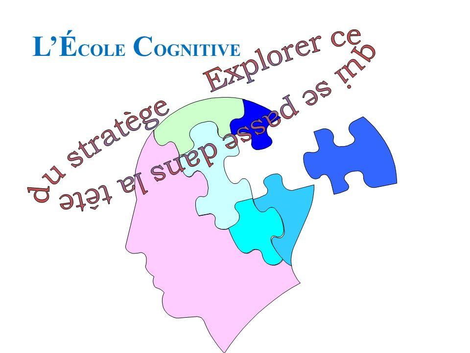 Une stratégie est un concept et, pour sinspirer dun vieux terme emprunté à la psychologie cognitive, lélaboration de la stratégie est la « recherche de concepts ».