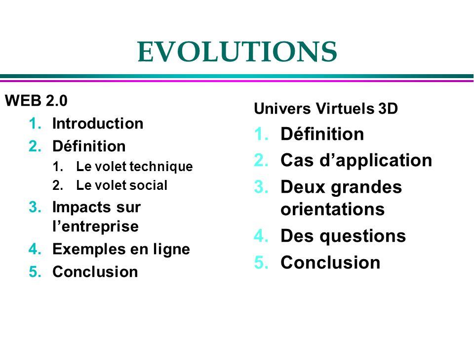 Un enjeu dintégration dans les organisations 1.Le choix des activités à « virtualiser » 2.