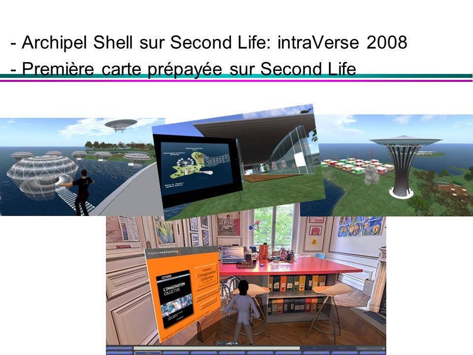 - Archipel Shell sur Second Life: intraVerse 2008 - Première carte prépayée sur Second Life
