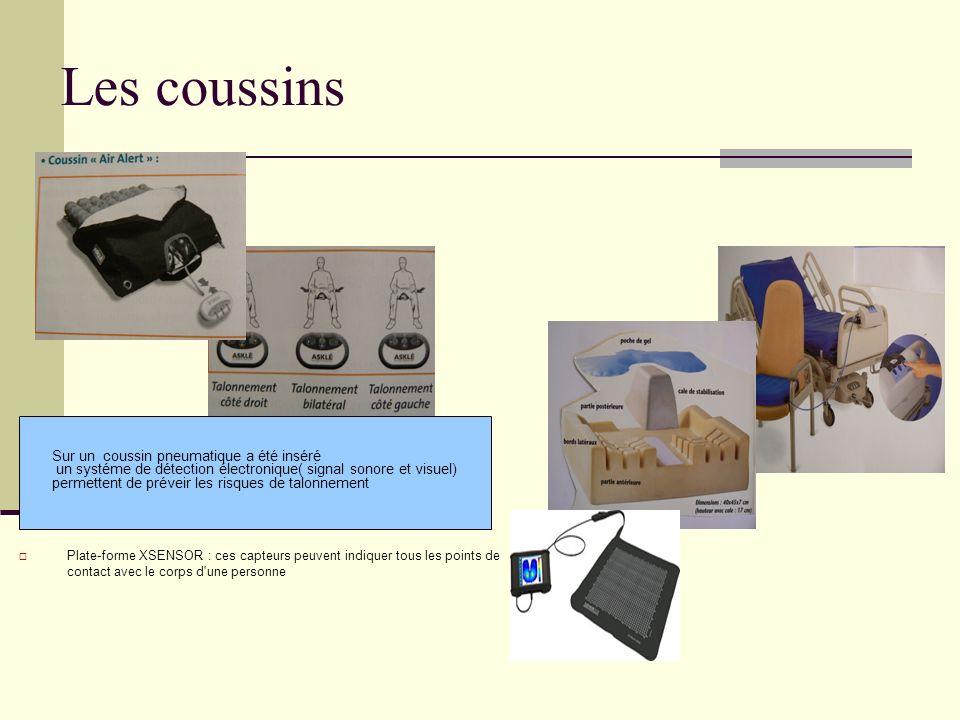 Les coussins Plate-forme XSENSOR : ces capteurs peuvent indiquer tous les points de contact avec le corps d'une personne allowing clinicians and patie