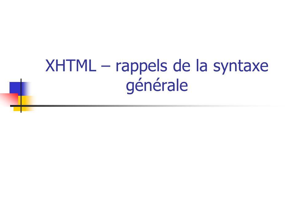 XHTML qu est-ce que c est .