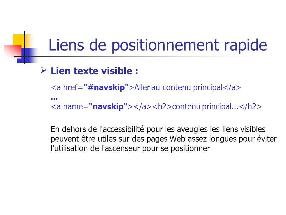 Liens de positionnement rapide Lien texte visible : Aller au contenu principal... contenu principal... En dehors de l'accessibilité pour les aveugles