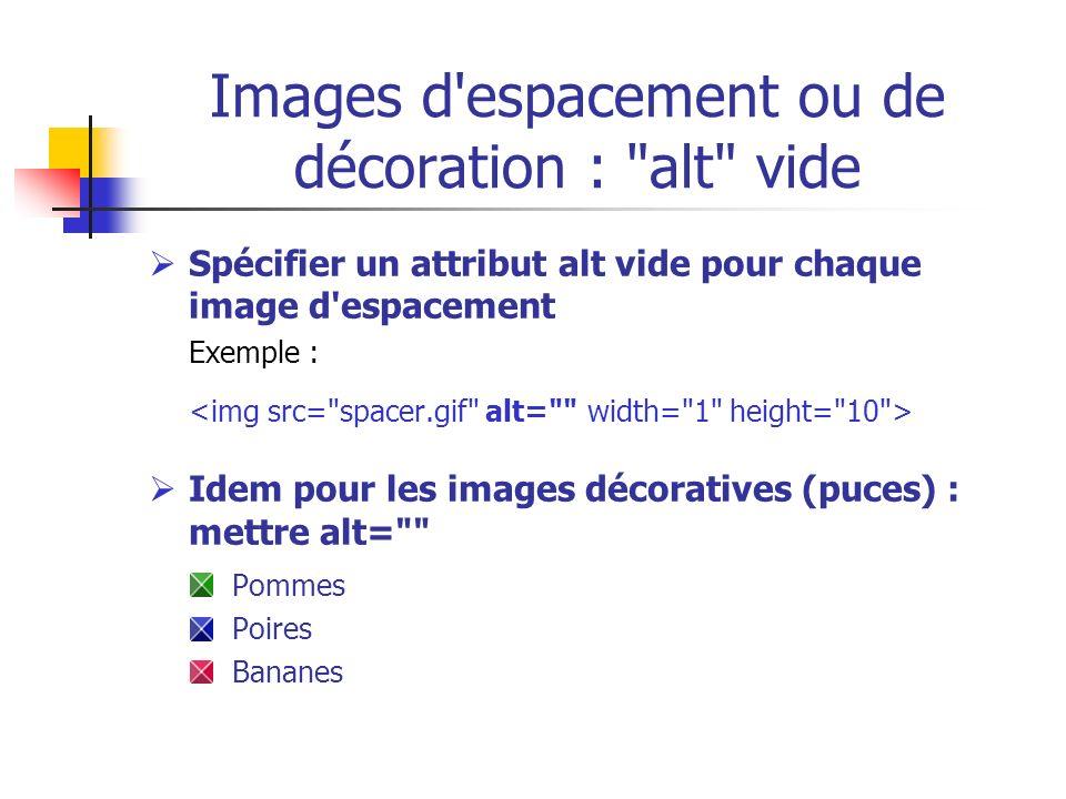 Images d'espacement ou de décoration :