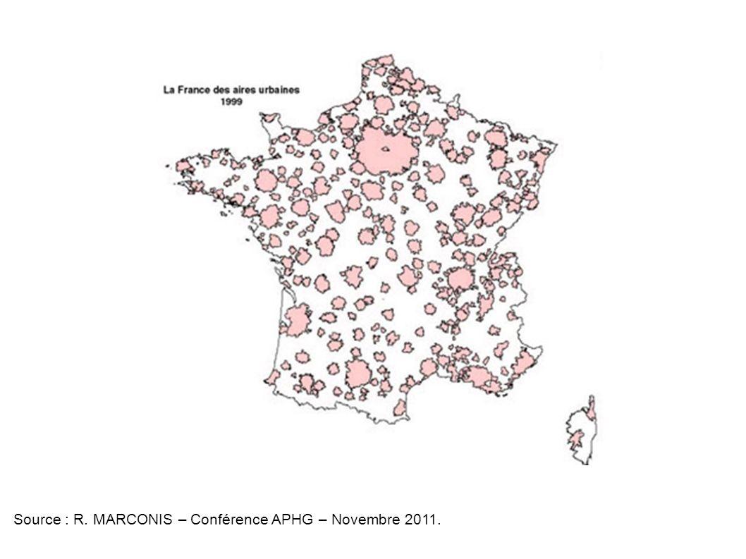 Source : R. MARCONIS – Conférence APHG – Novembre 2011.