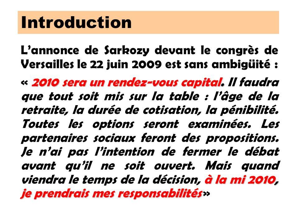 Lannonce de Sarkozy devant le congrès de Versailles le 22 juin 2009 est sans ambigüité : 2010 sera un rendez-vous capital.